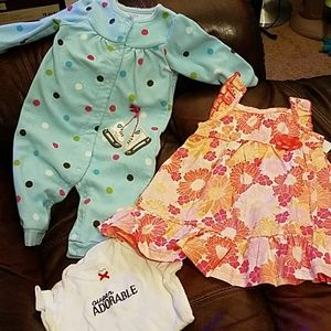 Lot of 4 Baby Girl Clothes size 6 months
